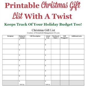 Make your. Christmas gift list. Then shop